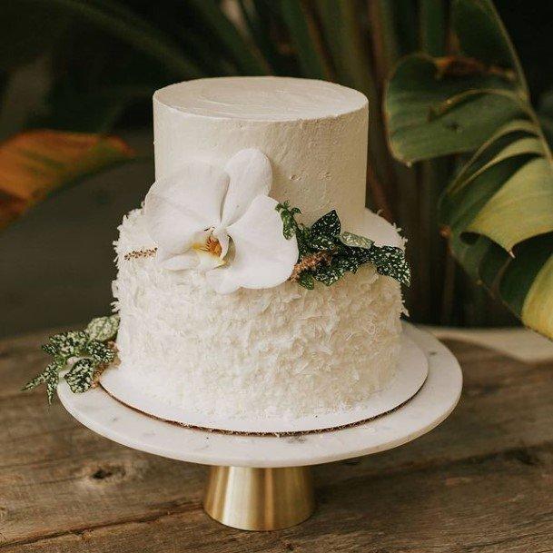 2 Tier Pure White Wedding Cake