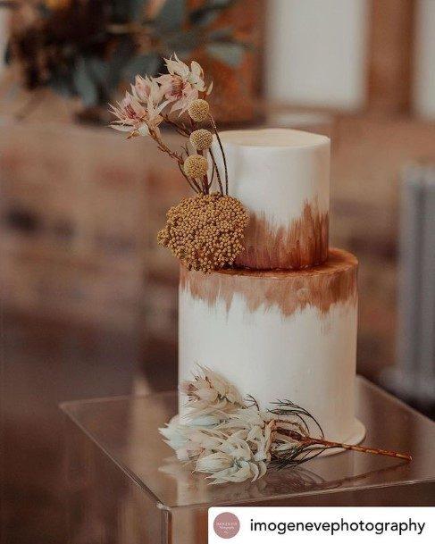 2 Tier Wedding Cake Rustic Boho