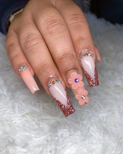 3d Flower Nails Women Stunning