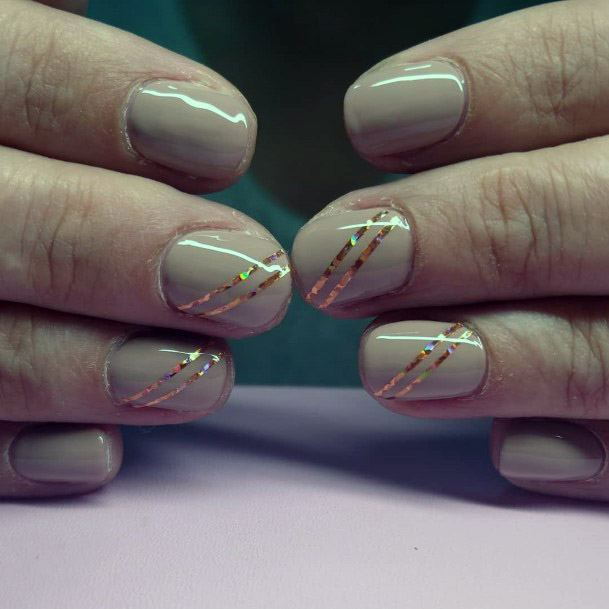 3d Rainbow Ribbons On Nude Nails