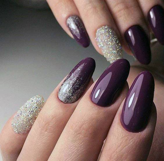 Fall Purple Nails 16