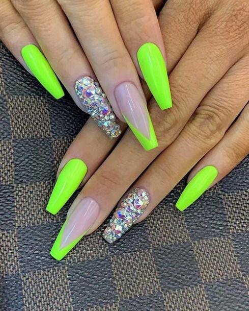 Stylish Neon Green Nails