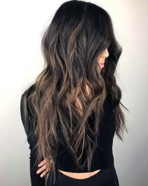 Textured Long Hair Long Layered Hairstyles