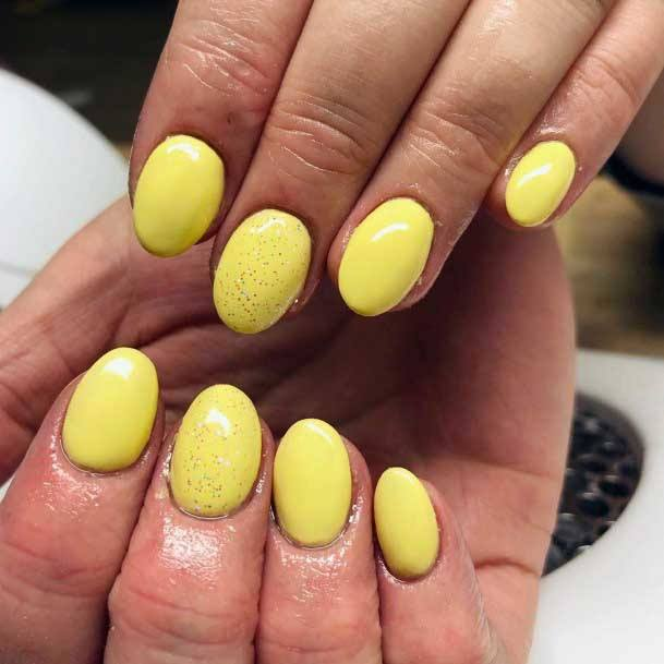 Ablaze Yellow Colored Nails For Women