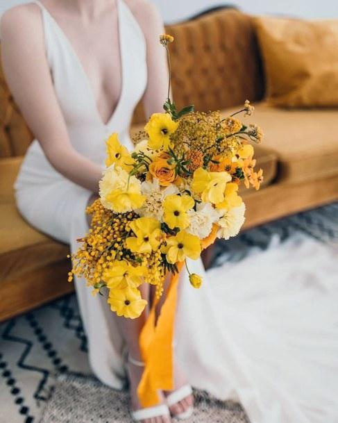 Ablaze Yellow Wedding Flowers