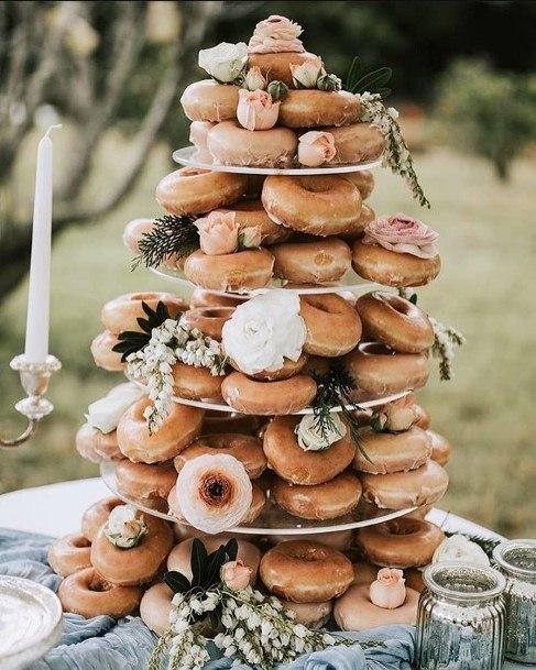 Abundance Of Donuts Wedding Cake