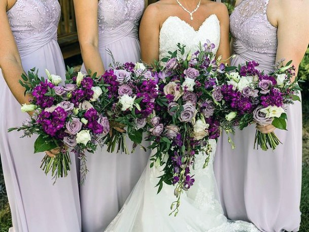 Abundance Of Lavender Flowers Wedding