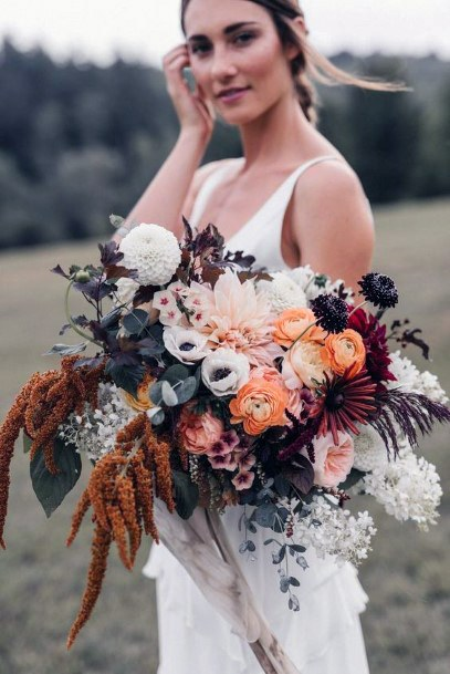 Abundant Boho Wedding Flower Bouquet