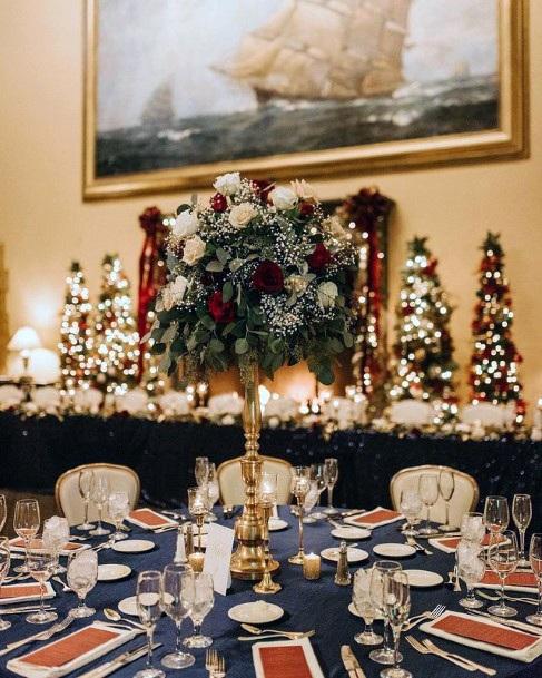 Abundant Christmas Flowers Wedding