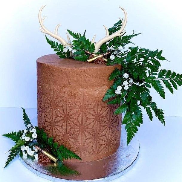 Abundant Green Rustic Wedding Cake Toppers