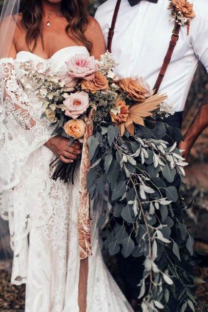 Abundant Rustic Wedding Flower Bouquet