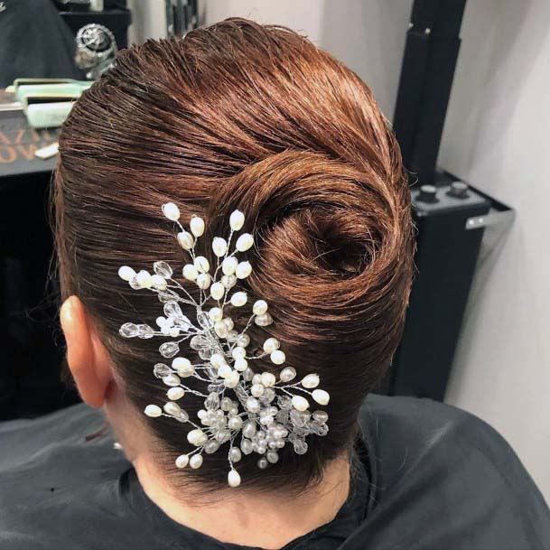 Accessorized And Sexy French Twist For Women And Girls