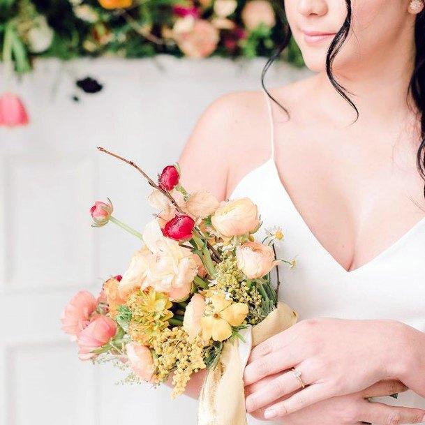 Adorable Bouquet Blush Wedding Flowers