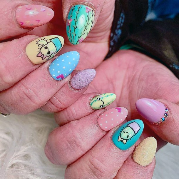 Adorable Cactus Nails Women