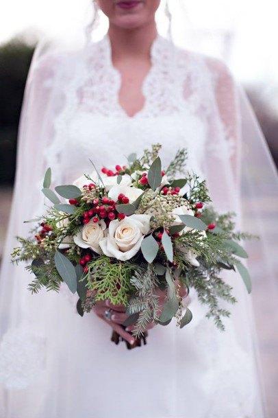 Adorable Christmas Wedding Flowers Bouquet