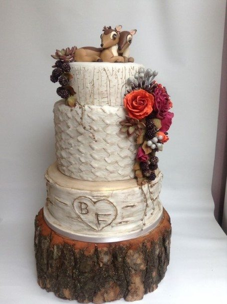 Adorable Rustic Wedding Cake Toppers