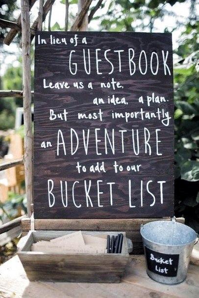 Adventure Recommendation Bucket List Wedding Guest Book Ideas