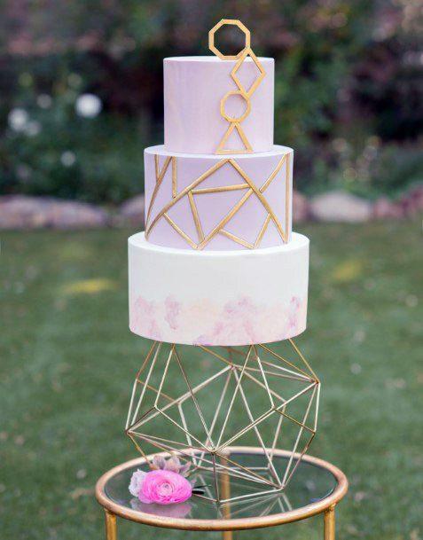 Aesthetic Geometric Womens Wedding Cake Stand