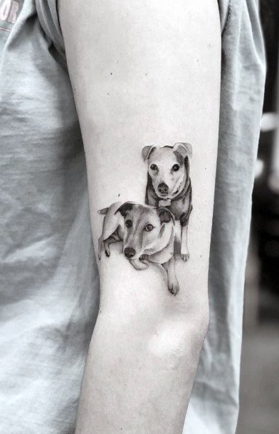 Agile Dogs Tattoo For Women Arms