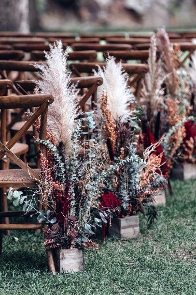 Aisle Decor Boho Wedding Flowers