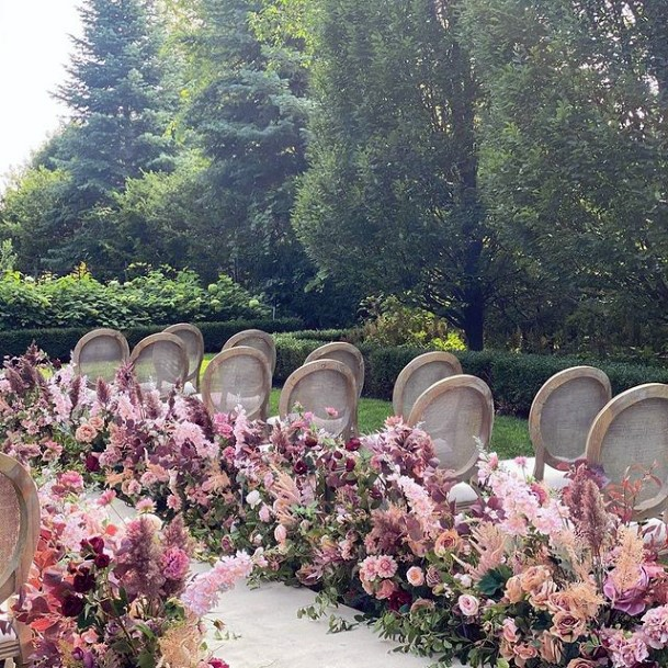 Aisle Decor Wedding Blush Flowers