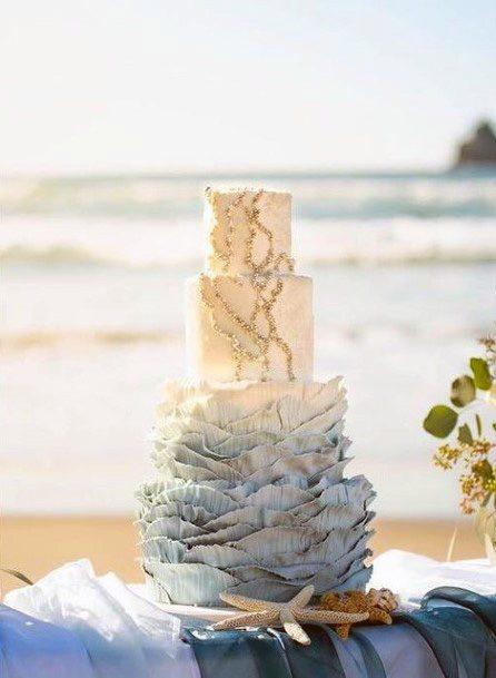 Alluring Beach Wedding Cake Women