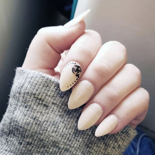 Almond Shaped Light Sugar Nails Women