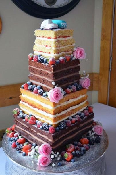 Alternative Square Wedding Cake