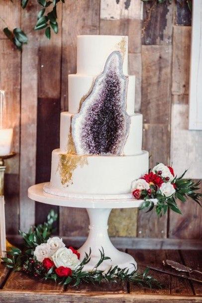 Amethyst Crystal Purple Wedding Cake