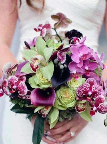 Amethyst Hawaiian Wedding Flowers