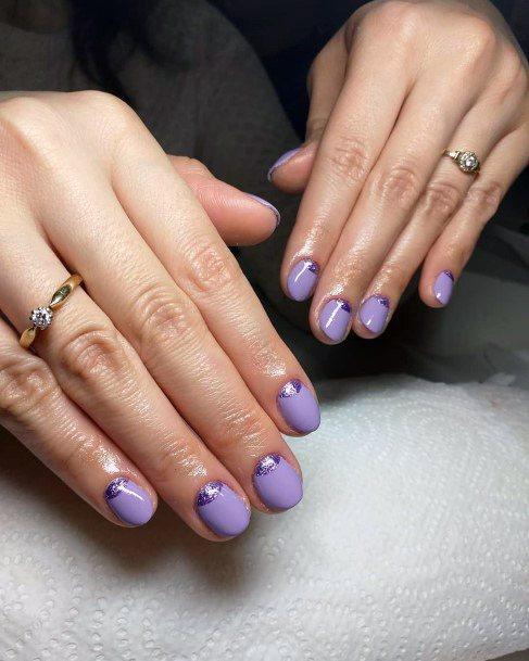 Amethyst Nails Short For Women