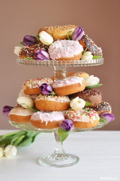 Amethyst Purple Donut Wedding Cake