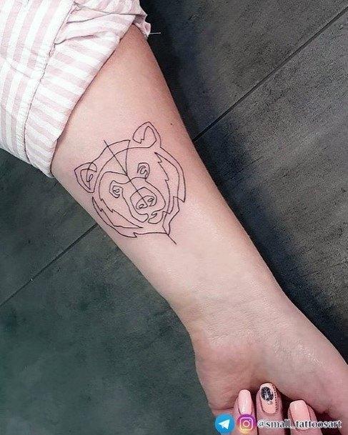 Anatomical Bear Tattoo For Women