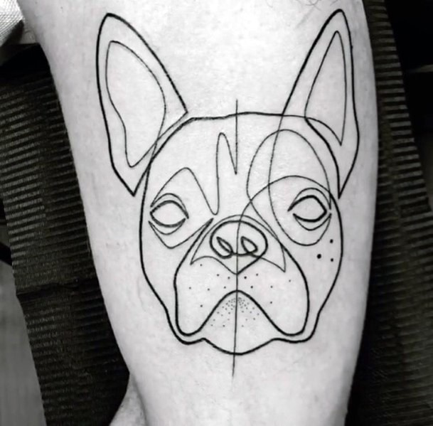 Anatomical Dog Tattoo For Women