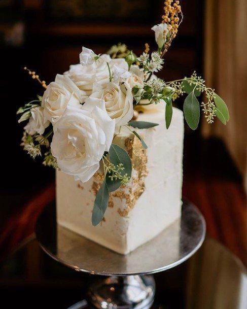 Angled Beautiful Wedding Cake