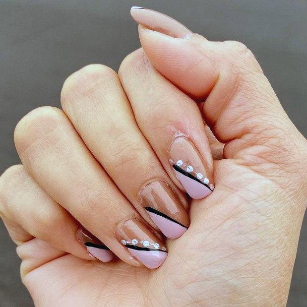 Angled Design Romantic Nails Women