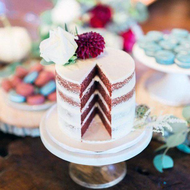 Angled Red Velvet Wedding Cake