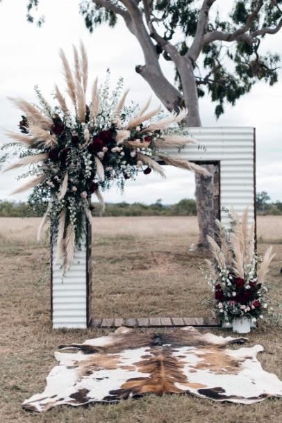 Angular Arch With Boho Wedding Flowers