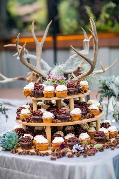 Antler Cupcake Topper Rustic Wedding Ideas