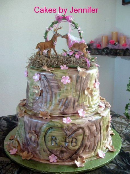 Antlers In Love Camo Wedding Cakes