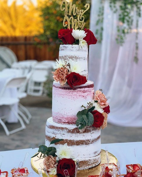 Appealing 3 Tiered Wedding Womens Cake