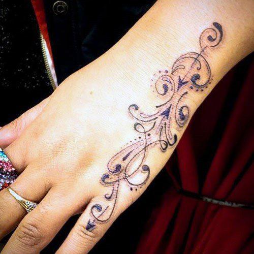 Arabic Art Tattoo Womens Wrist