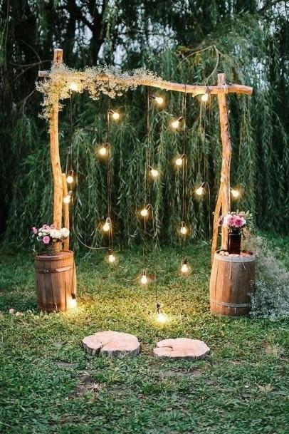 Arch Backyard Wedding Ideas