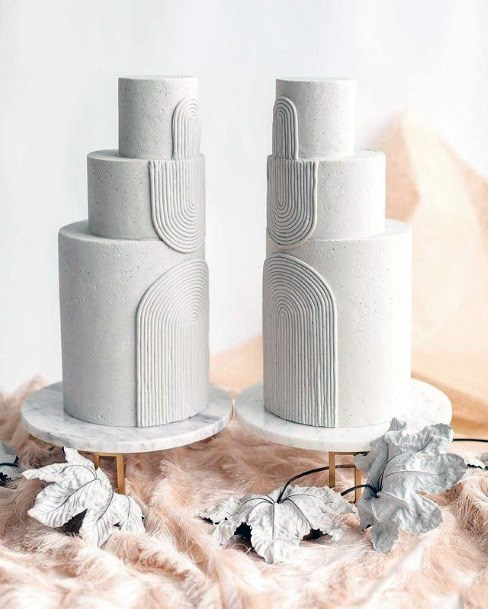 Arched Design Womens Wedding 3 Tier Cake