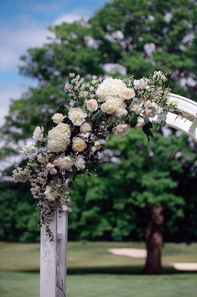 Arched Hydrangea Wedding Flowers
