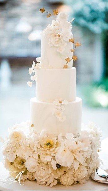 Aristrocratic White Wedding Cake