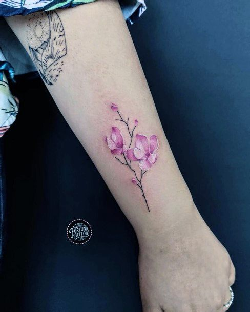 Aromatic Cherry Blossom Tattoo For Women Hands