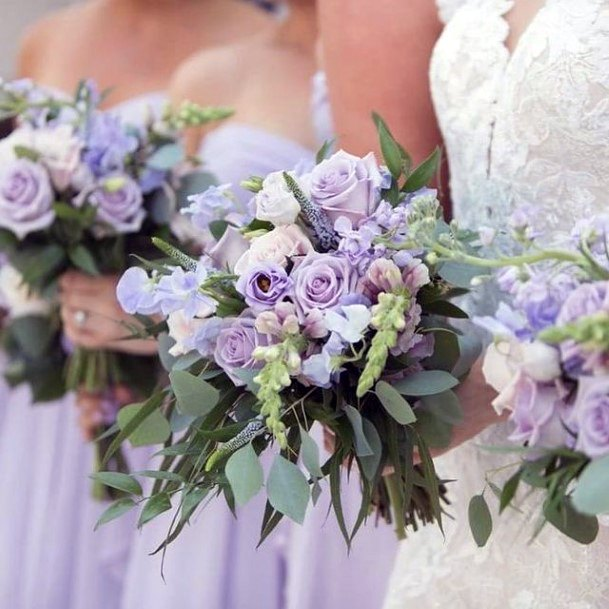 Array Of Lavender Flowers Wedding