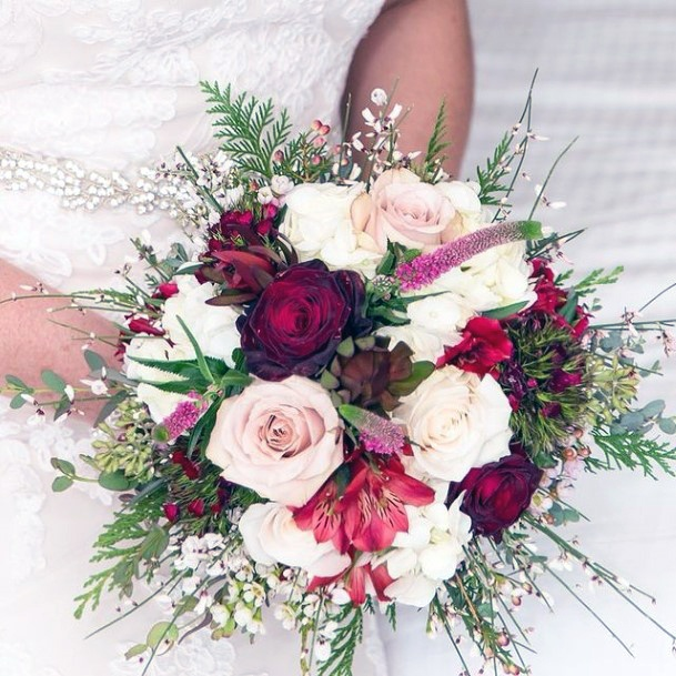 Artfully Done Christmas Wedding Flowers