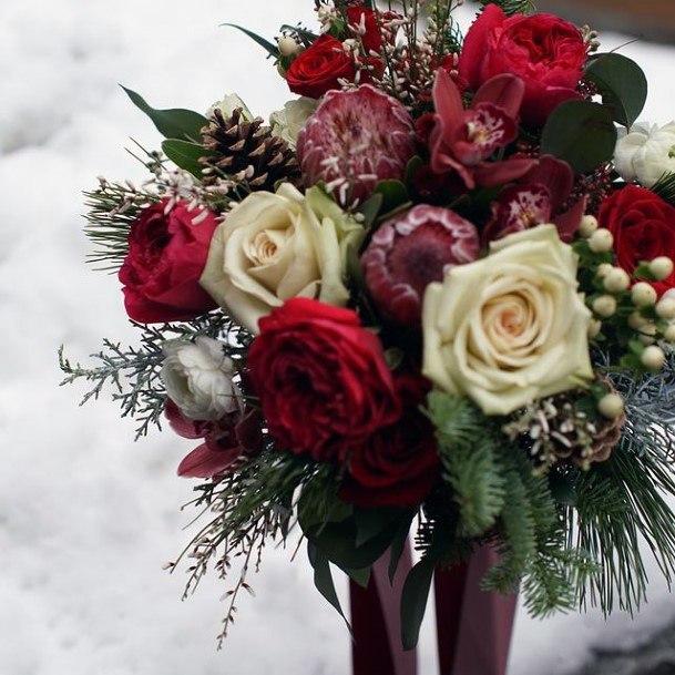 Artistic Rose Decoration Christmas Wedding Flowers